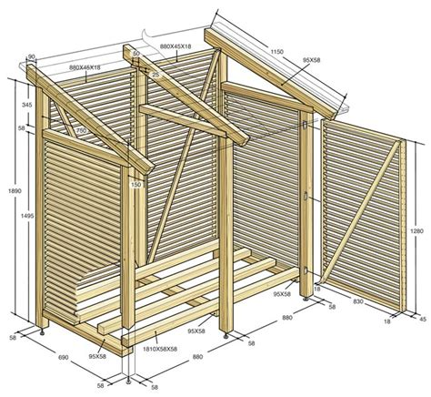 disegno tettoia in legno costruire una legnaia fai da te da esterno con tettoia