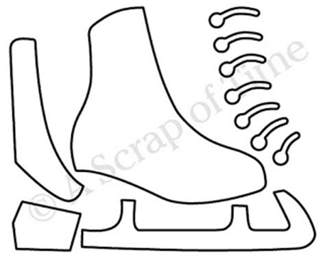 Best Photos Of Ice Skate Outline Ice Skate Craft Template Ice Skating Coloring Pages Bauer Skate Sizing Template