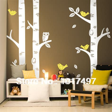Rooms To Go Free Delivery by Free Shipping Oversized 100 X100 Birch Tree Wall Decals