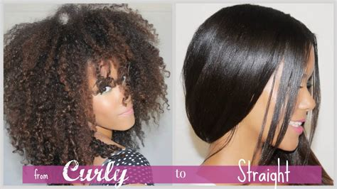 how to pin curls natural straightened hair curly to straight how i straighten my natural curly