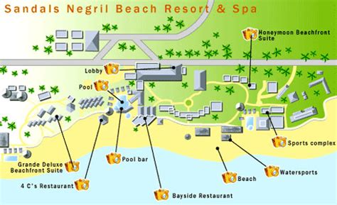 sandals montego bay map sandals negril resort and spa map jamaica