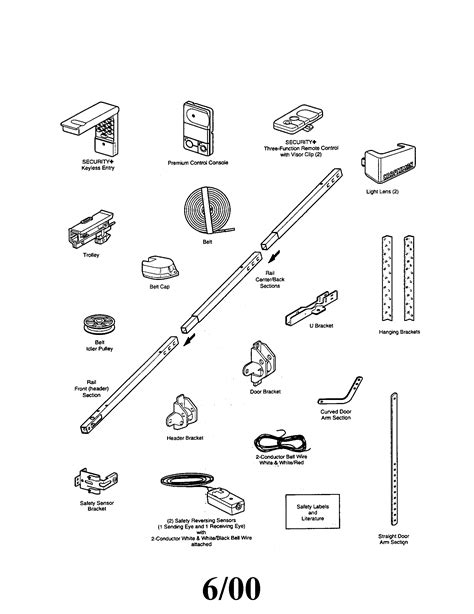 Craftsman Garage Door Opener Parts Diagram Efcaviation Com Overhead Door Operator Parts