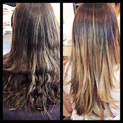 wash hair after balayage highlights the gallery for gt balayage before and after dark hair
