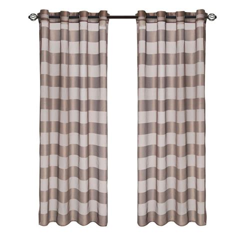 drapes 108 length lavish home coffee sofia grommet curtain panel 108 in