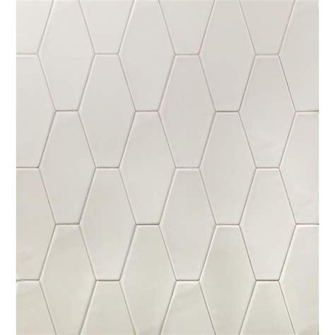 Ivy Hill Tile Birmingham Hexagon Dove Gray 4 in. x 8 in
