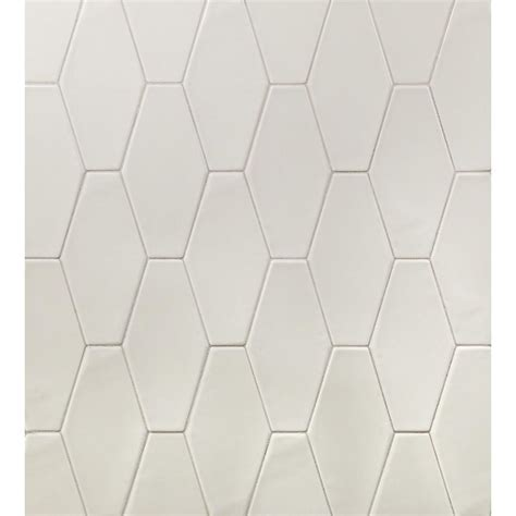 Ivy Hill Tile Birmingham Hexagon Dove Gray 4 in. x 8 in