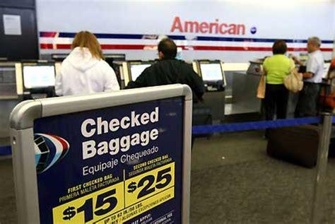 american baggage fees fee bagaglio massimo 4 50 dollari la proposta di legge negli usa travelquotidiano