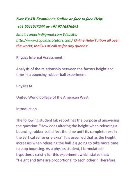 Extended Essay Topics Physics by Ib Physics Hl Sl Ia Extended Essay Help