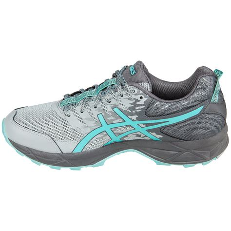 womens grey running shoes asics women s gel sonoma 3 trail running shoes mid grey
