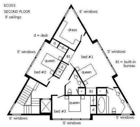 triangle floor plan triangle house floor plans triangle houses pinterest