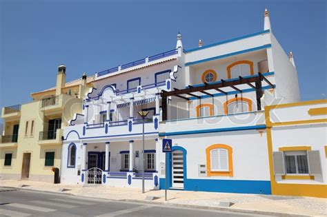 houses to buy in algarve portugal colorful houses in the algarve portugal stock photo colourbox