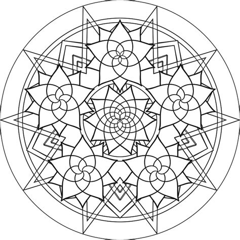 Free Coloring Pages Of Complex Mandalas Complex Mandala Coloring Pages