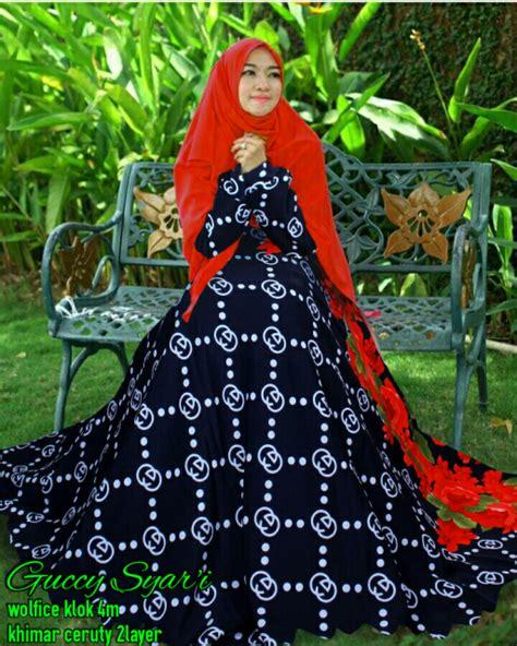 Gucci Syari Navy miftah shop distributor supplier tangan pertama baju hijabers onlineshop konveksi baju