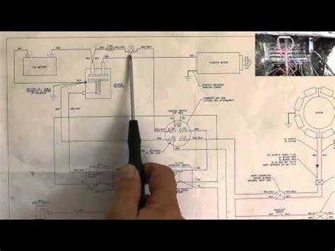 riding mower starting system wiring diagram part  youtube