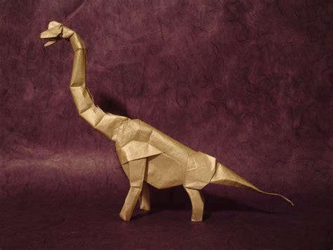 origami brachiosaurus origami brachiosaurus v2 by origami artist galen on deviantart