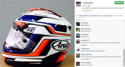 Helm Arai Cargloss helm arai akan diproduksi di indonesia gilamotor