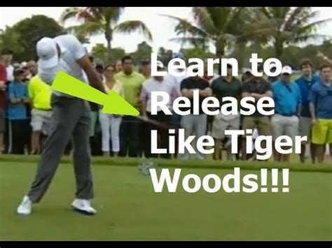 no release golf swing learn the golf release today tiger woods swing review