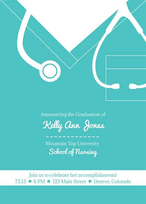 nursing graduation invitation templates 17 best images about logo ideas on
