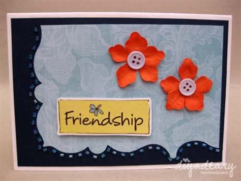 Handmade Friendship Greeting Cards - happy friendship day cards for best friend handmade