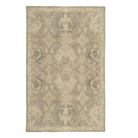 floor rugs home depot home decorators collection imperial ivory 3 ft x 5 ft oval area rug 0294365420 the home depot