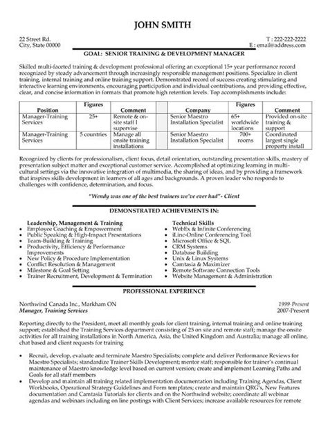 Resume Format Of Hr Trainer 26 Best Images About Best Administration Resume Templates Sles On Manager