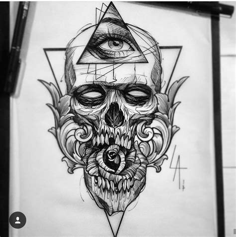 skull and bones tattoo designs geometric skull inspirations skulls