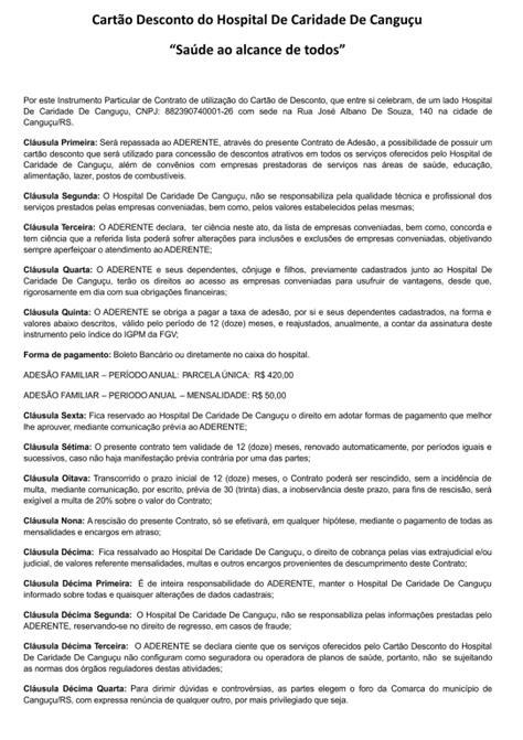 Proposta de Adesão - Hospital de Caridade de Canguçu