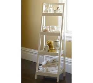 pottery barn bathroom storage floor standing ladder pottery barn