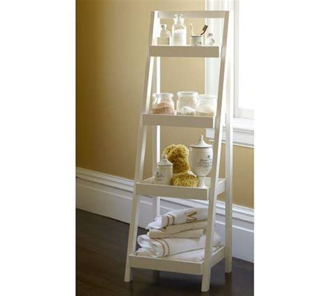 pottery barn bathroom shelves floor standing ladder pottery barn