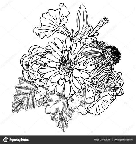 disegni di vasi di fiori disegno di fiore con foglie da colorare per bambini con