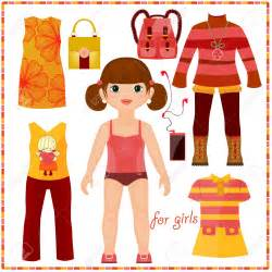 How To Make Paper Dolls And Clothes - paper doll clothes clipart 79