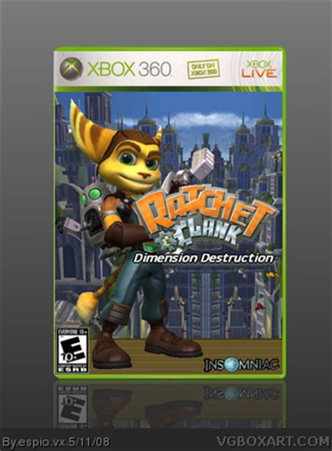 ratchet and clank: dimension destruction xbox 360 box art