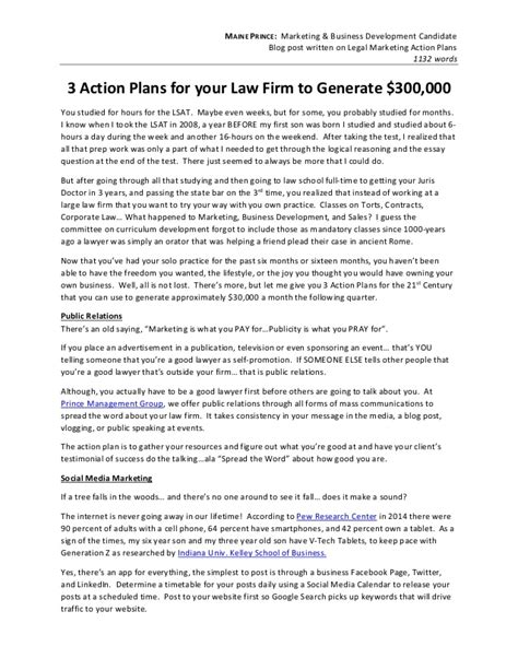 writing sle attorney action plans