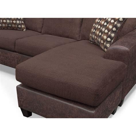 Furniture Chocolate Sofa by Brando Sofa With Chaise Chocolate American Signature