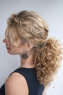 of the hairstyles images curly hairstyle tutorial the curly ponytail hair romance