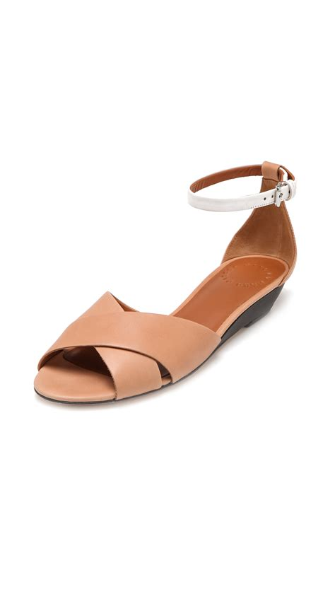 Marc Jabobs Sandals by Marc By Marc Low Wedge Sandals In Brown Lyst
