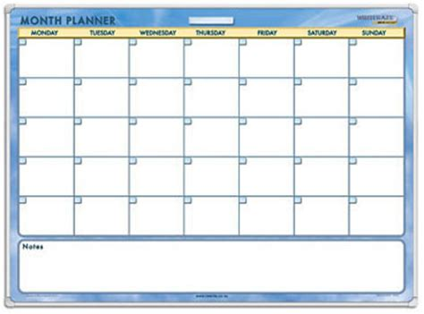 writeraze perpetual month planner laminated framed