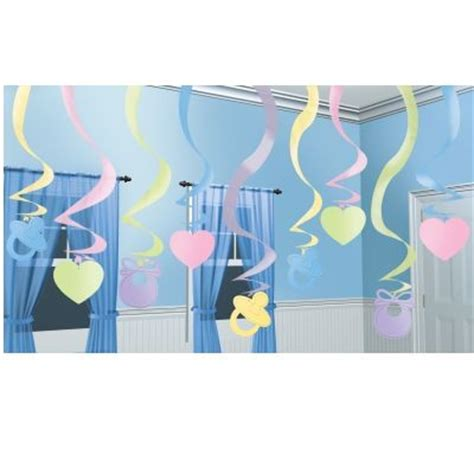 Baby Shower Hanging Decorations by Hanging Swirls Baby Shower Decoration