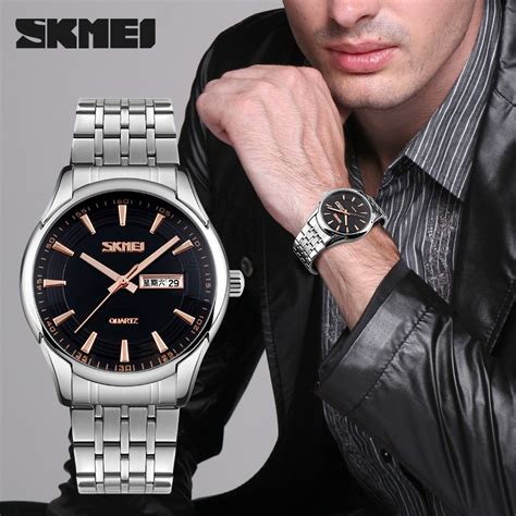 Skmei Casual Stainless Water Resistant 30m 9123cs Blue jam tangan pria skmei casual stainless
