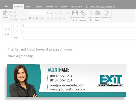 Email Cards For Business business card email signature exit realty business cards
