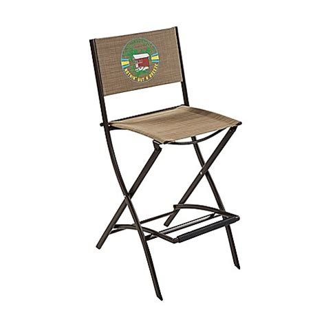 Folding Bar Stools Bed Bath Beyond Margaritaville 174 Outdoor Sling Folding Bar Stool In Brown Bed Bath Beyond