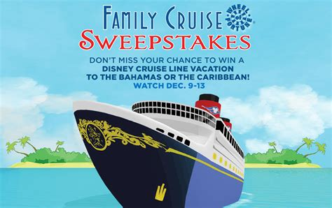 Disney Prizes Sweepstakes - wheel of fortune to celebrate disney cruise line with a family cruise sweepstakes