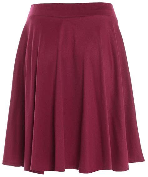 new plus size plain tartan skater flippy skirt 10