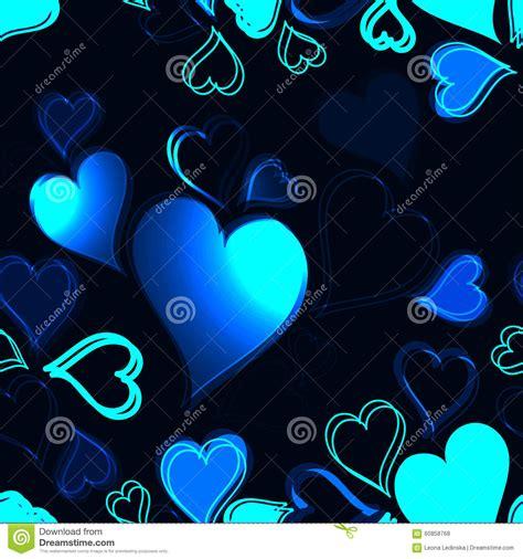 imagenes de corazones oscuros corazones azules brillantes en modelo incons 250 til del fondo