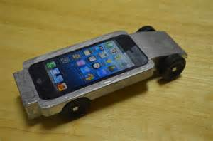 my son s iphone pinewood derby car wired