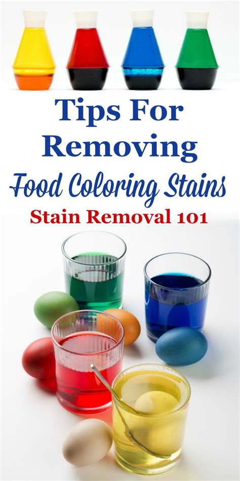 how to remove a food coloring stain