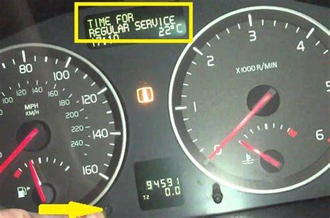 volvo s40 service light how to service light reset in volvo v50 s40 c30 c70