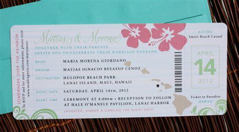 Wedding Ticket Invitations Template   Wedding Invitation