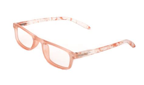 brown frame womens reading glasses with colourful