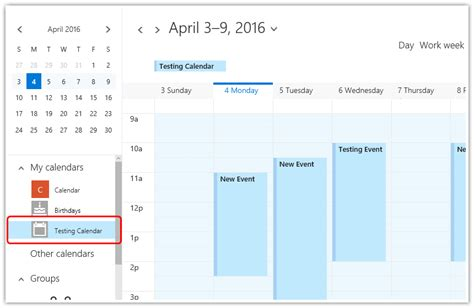 loading calendar appointments exchange server office